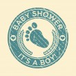 Baby Shower Feet Rubber Stamp — Stock Vector