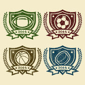 Sport Emblem Rubber Stamps — Stock Vector