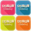 Happy Birthday Greeting Cards — Stock Vector