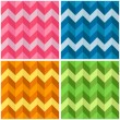 Seamless Zigzag Patterns — Stok Vektör