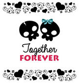 Together Forever Valentines Card — Stock Vector