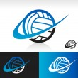 Swoosh Volleyball Icon — Stock Vector #39660465