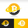 Swoosh Bitcoin Icon — Stock Vector #39734735
