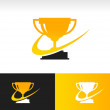 Swoosh Trophy Icon — Stock Vector #39930879
