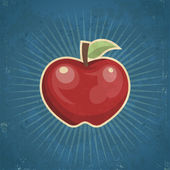 Apple retro — Vector de stock