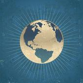 Retro Planet Earth — Stock Vector