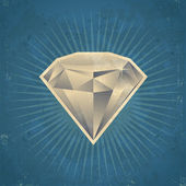 Retro Diamond Illustration — Stok Vektör