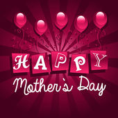 Happy Mothers Day Card — Stock Vector