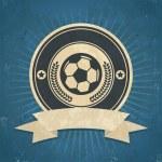 Retro Soccer Ball Emblem — Stock Vector #44785749