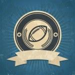 Retro American Football Emblem — Stock Vector #44785885