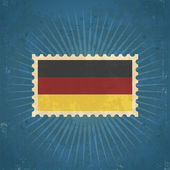 Retro German Flag Postage Stamp — Stock Vector