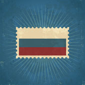 Retro Russia Flag Postage Stamp — Stock Vector
