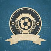 Retro Soccer Ball Emblem — Stock Vector