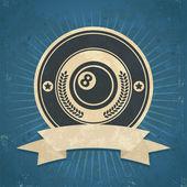 Retro sekiz top amblemi — Stok Vektör