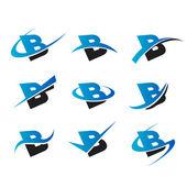 Icone b alfabeto — Vettoriale Stock