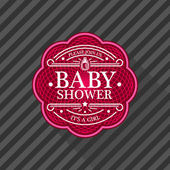Baby Shower Emblem — Stock Vector