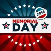 Memorial day-illustratie — Stockvector