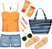 Fashionset of summer clothes — Stock Vector