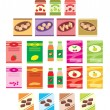 Set of packings of products - Imagen vectorial