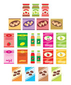 Set of packings of products — Stock Vector