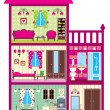 Royalty-Free Stock Vector Image: House for the girl in a cut