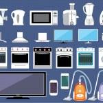 Постер, плакат: Set of household appliances