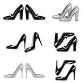 Set of icons of women's shoes — Stockvector