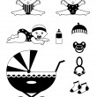 Royalty-Free Stock Vector Image: Baby icon set