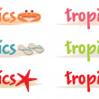 Vetorial Stock : Rest symbols in tropics