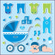 Royalty-Free Stock Vector Image: Set of baby boy icons