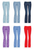 Set of jeans — Vector de stock