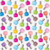 Seamless nail polish pattern — Stock Vector