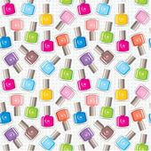 Seamless nail polish pattern — Stock Vector