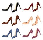 Set di scarpe femminili — Vettoriale Stock