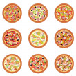 Pizza set — Stock Vector #16214751