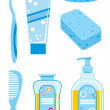 Set of  things for bathing - Stock Vector
