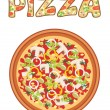 Stock Vector: Pizza.