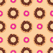 Seamless donuts pattern — Stock Vector