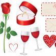 Valentine day icon set — Stock Vector