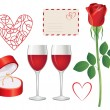 Valentine day icon set — Stock Vector #17685759