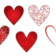 Set of hearts — Stock Vector #17685789