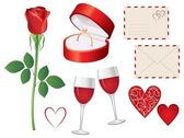 Valentine day icon set — Stock Vector