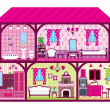 House for the girl in a cut — Stock Vector #18330837
