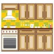 Kitchen furniture. - Stock Vector