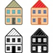 Icons of houses — Stock Vector