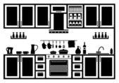 Symbol der küche — Stockvektor