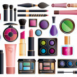 Set of cosmetics - Grafika wektorowa