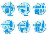 Set of icon cleaning — Stock Vector