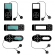Stock Vector: Mp3 players icons