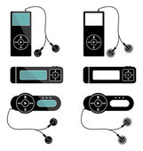 Mp3 players icons — Stock Vector